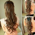 "16""-24"" New Body Wave Ponytail clip-on 100% Remy Human Hair Extensions 100g"