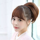 Fashion Pretty Girls Clip In Front Hair Bang Fringe Hair  Straight Wigs