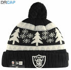 KIDS NEW ERA CUFF KNIT BOBBLE BEANIE HATS YANKEES RAIDERS IRON MAN YOUTH 48-55cm