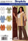 Simplicity 2230 Sewing Pattern Khaliah Ali Tunic Top Misses10-18 OUT OF PRINT
