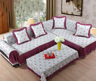 Acetate Fiber Lace Slipcover Sofa Couch Cover Protector for 1 2 3 4 seater LUS