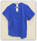 SCRUBSTAR Women's V Neck 3 pocket Scrub top SMALL Electric Blue 77933