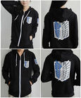 Attack On Titan Anime Survey Legion Black Thin Hooded Sweatshirt Cosplay Hoodie