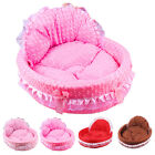 Dog Puppy Cozy Kennel Animal Beds Princess Nest Bow Princess Lace Pet Bed