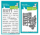 Lawn Fawn Stamps OR Die Set - Happy Happy Happy (LF1334 Stamps) OR (LF1335 Dies)