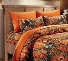 "12 pc. CAMO Sheets, Comforter & Curtains ""THE WOODS"" QUEEN BEDDING SET 8 colors"