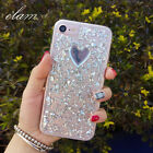 Glitter heart Cell Mobile Phone Case Clear TPU Cover Shell for iPhone6/6S/7/Plus