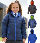 Result Girls Kids Childrens Padded HOODED Warm Showerproof Windproof Jacket Coat