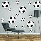 Footballs Wall Stickers Art Kit Pack Decal Graphic Boy's Bedroom 3 Sizes Options