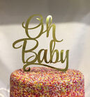 Oh Baby Gold Foil Cake Topper Decoration Baby Shower Decor