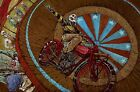 Wall of Death by David Lozeau Skeleton Indian Motorcycle Bike Canvas Art Print
