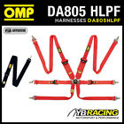 DA805HLPF OMP 805 HLPF RACING HARNESS HANS STRAPS with ULTRA FAST LAP ADJUSTERS!