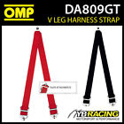 """DA809GT OMP V LEG HARNESS 2"""" LAP STRAPS CONVERT TO 6-POINT with PLATE ATTACHMENT"""