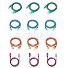 3/6/10ft Braided Aluminum Micro USB Data Charger Cable For Android Phones EW