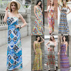 NEW Women Summer Boho Long Maxi Floral Evening Party Dress Beach Long Dress