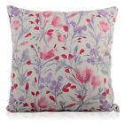Handmade Pink and Purple mauve Watercolour Flower DESIGN Filled Cushion Various