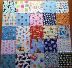 """Patchwork Fabric Charm 5"""" Squares-Animal Novelty Cotton Baby Child I Spy Quilt"""