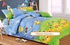 2017 New Pokemon Pikachu Bedding Set 4pc for Queen / King Bed Cotton RARE