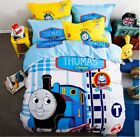 New 2017 Thomas the train Bedding Set 4pc Queen King Bed BLUE Cotton Gift RARE