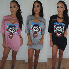 Fashion Women Summer Short Sleeve Cotton Casual Blouse Top Mini Shirt Dress