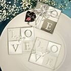 70 Mirror Finish Love Coaster (Sets of 2's ) Wedding shower Favors