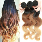 3 Bundles Ombre Blonde Remy Virgin Human Hair Extesions body wave Extesions 150g
