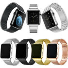 Stainless Steel Butterfly Wrist Bracelet Strap For Apple watch band 38mm/42mm