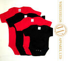 Baby Bodysuit Vest - 3x pack Plain Blank Red Black wholesale