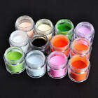 Nail Art Accessories - 121824X Beauty Mix Colors 3D Acrylic Nail Art Dust Powder Decoration Tips