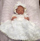CRI4 Baby Wedding Baptism First Holy Communion Formal Holiday Gown Dress Bonnet