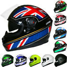 LEOPARD LEO-828 DVS Full Face Motorbike Motorcycle Helmet Sun Visor Road Legal