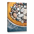 Rusted Bowl Of River Stones' Gallery Wrapped Canvas Art Print