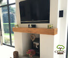 SOLID OAK BEAM - Perfect fireplace, mantelpiece, floating shelf - Air dried