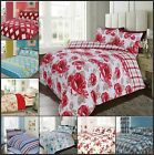 Single Double King Duvet Quilt Cover Bedding Sets w/ Pillowcases Clearance Price