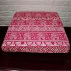 AL256t Rose Red Cream Elephant Cotton Canvas 3D Box Seat Cushion Cover Custom Si