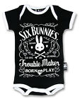 Six Bunnies Short Sleeved Babygrow - Troublemaker