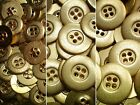 15mm 20mm 23mm Yellow Gold Metal 4 Hole Industrial Costume Buttons (MB172-MB174X