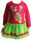 BNWT Rare Editions Girl FANCY PINK RUDOLPH HOLIDAY/Pageant TuTu Dress/Legging