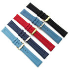 Apollo Tough Ribbed Textile Watch Strap 18mm 20mm Choice of Colour Free Pins