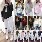 Womens Long Sleeve Lace Up Blouse T-Shirt Casual Pullover V Neck Sweater Jumpers