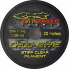 ATOMIC TACKLE CHOD WYRE STIFF CLEAR FILAMENT   MULTI CHOICE   20m SPOOL