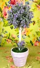 "NWT 11"" POTTED MOSS LAVENDER FLOWER FLORAL GREENERY TOPIARY TREE HOME DECOR"