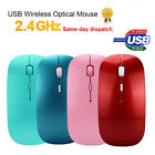 Slim 2.4 GHz Optical Wireless Mouse +USB Receiver For Laptop PC Mac NOTEBOOK New