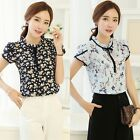 Fashion Chiffon T-shirts Women Short Sleeve Floral Printed Blouse Tops PLUS SIZE