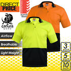 3 5 10x Hi Vis Polo Shirts Work Short Sleeve Safety CoolDry Air Vents Hitech