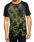 Cannabis Buds Men's All Over Print Baseball T Shirt - Weed Hydroponics Stoner