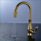 Kitchen Faucet Swivel Spout Pull Out Sprayer Single Lever Deck Mount Mixer Taps