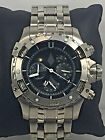 Men's Invicta 1744 Aviator Stainless Steel Black Chronograph Dial Watch