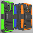 Hybrid Kickstand Case & Holster For LG K20 Plus / K20 V / K20V Belt Clip Cover