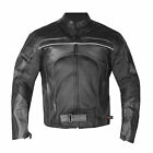 New Men's Razer Motorcycle Biker CE Armor Mesh Leather Green Riding Jacket
